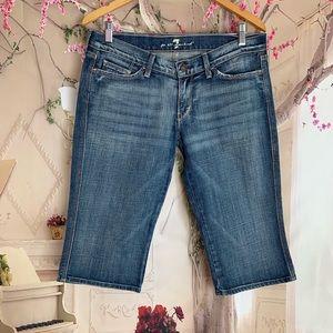 7 for All Mankind Bermuda Denim Shorts